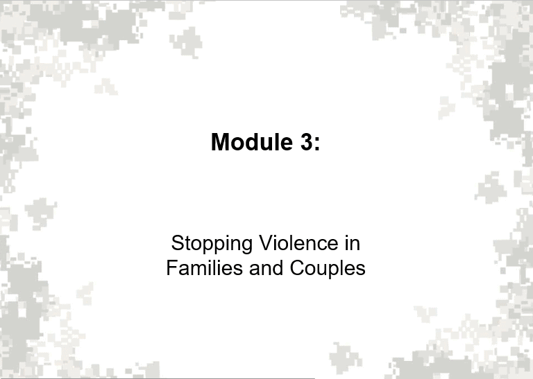 Stopping Violence In Families And Couples
