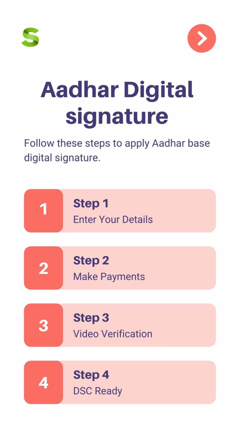 Aadhar Base Digital signature