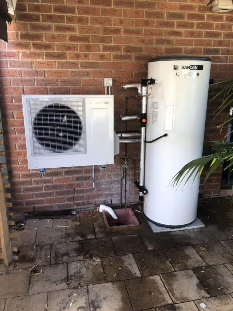 Sanden Hot Water Heat Pump Alternative in Adelaide