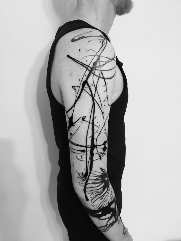 abstract tattoo, abstrakte tätowierungen