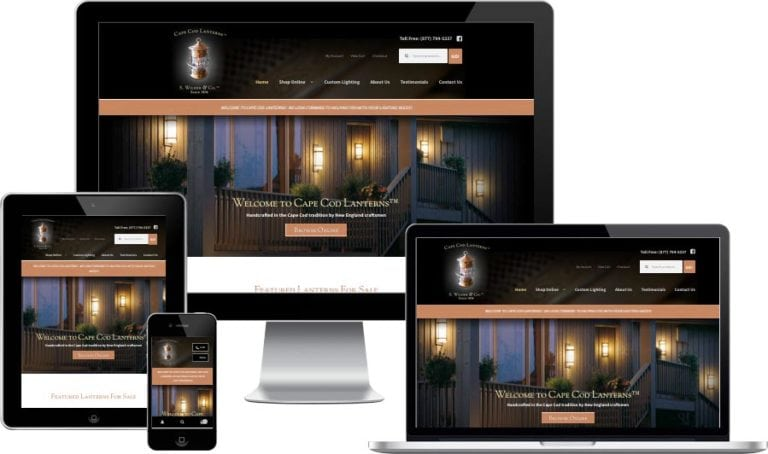 Cape Cod eCommerce website design