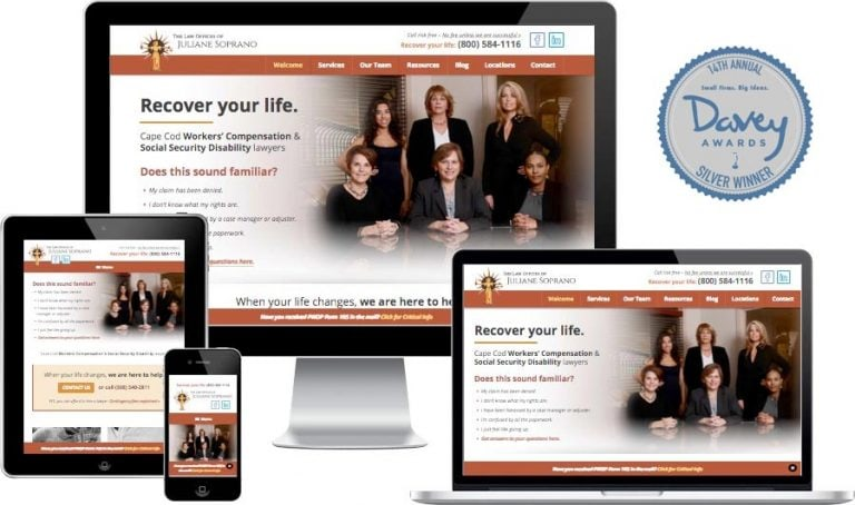 Cape Cod lawyer website design