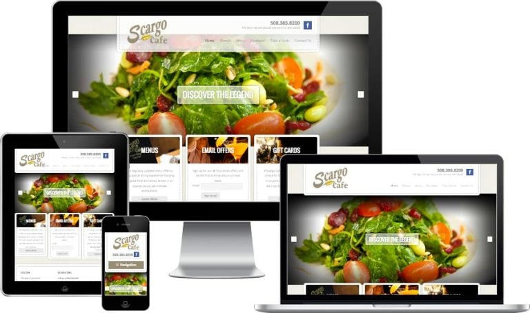 Cape Cod Restaurant website design