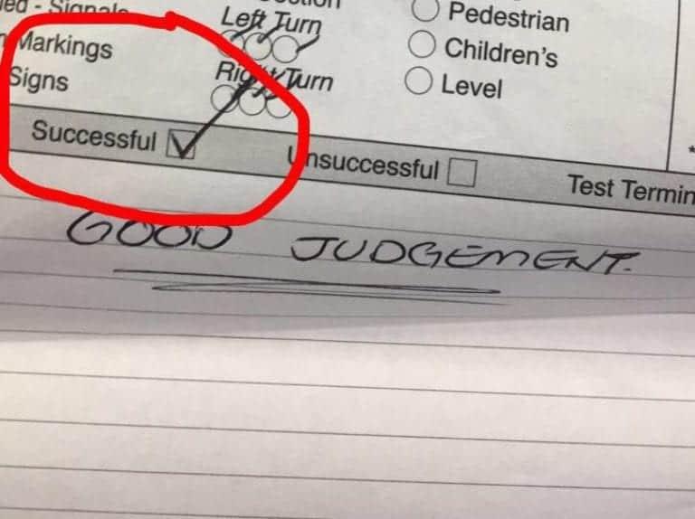 Saturday driving test