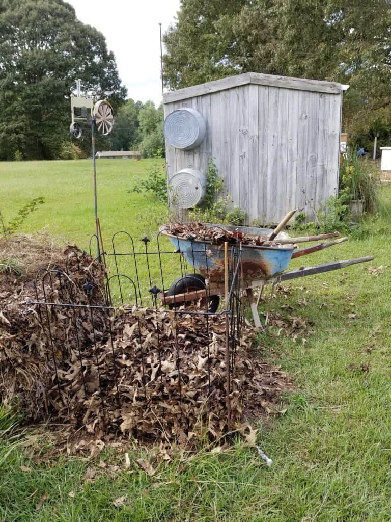 How to Begin Composting, Compost Pile Brown Layer