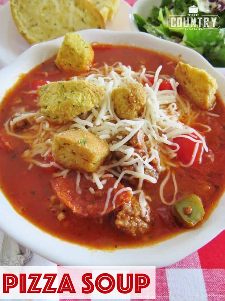 Pizza Soup recipe from The Country Cook