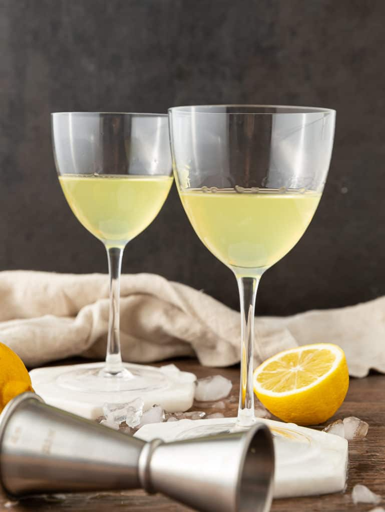 two limoncello glasses