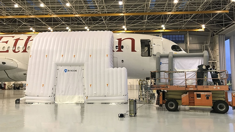 Inflatable Cleanrooms for Aircrafts