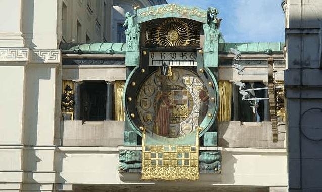 достопримечательность часы в вене