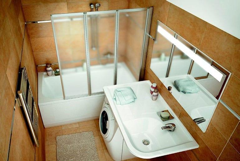 Нестандартные ванны для маленьких ванных комнат
