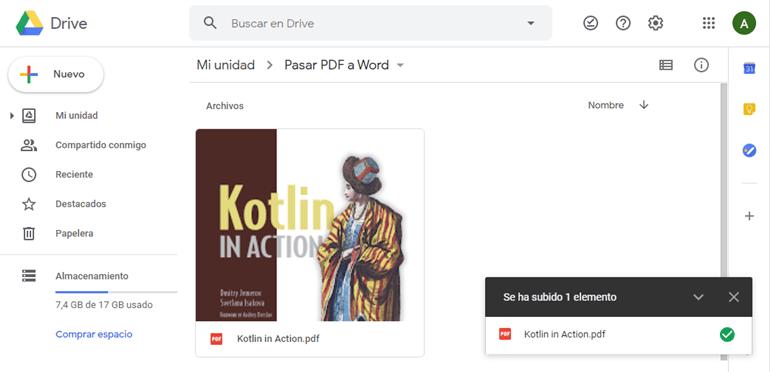 Subir PDF a Google Drive