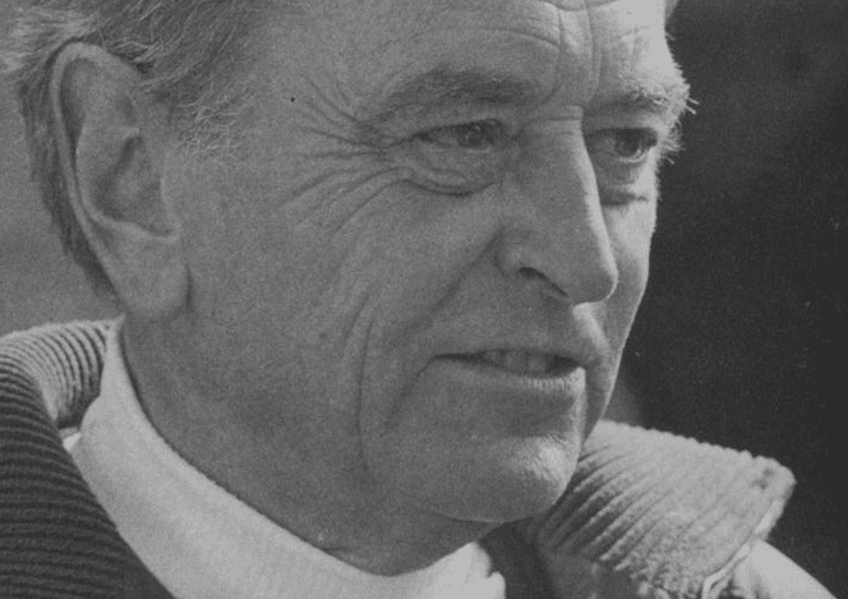 Black and white photo of Old Leightonian Sir David Lean