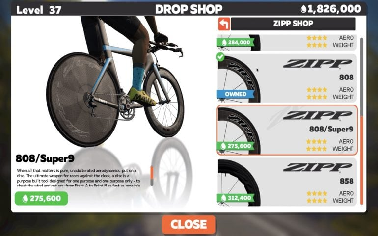 Zwift Introduces a New Virtual Shopping Garage | SMART Bike Trainers