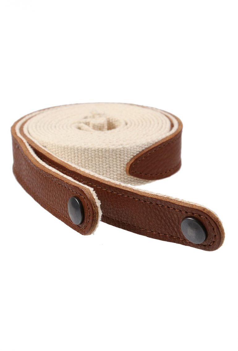 AC011 Strap - Tan leather with ecru webbing for AP096