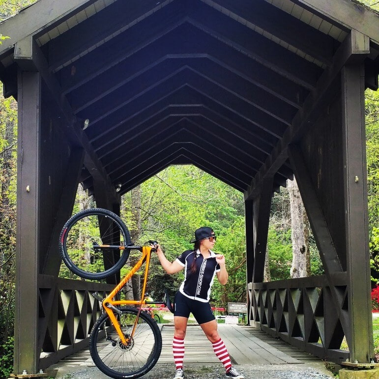 Kayley Burdine advanced to a CAtegory 1, expert-level racer with one year of mountain bike racing experience.