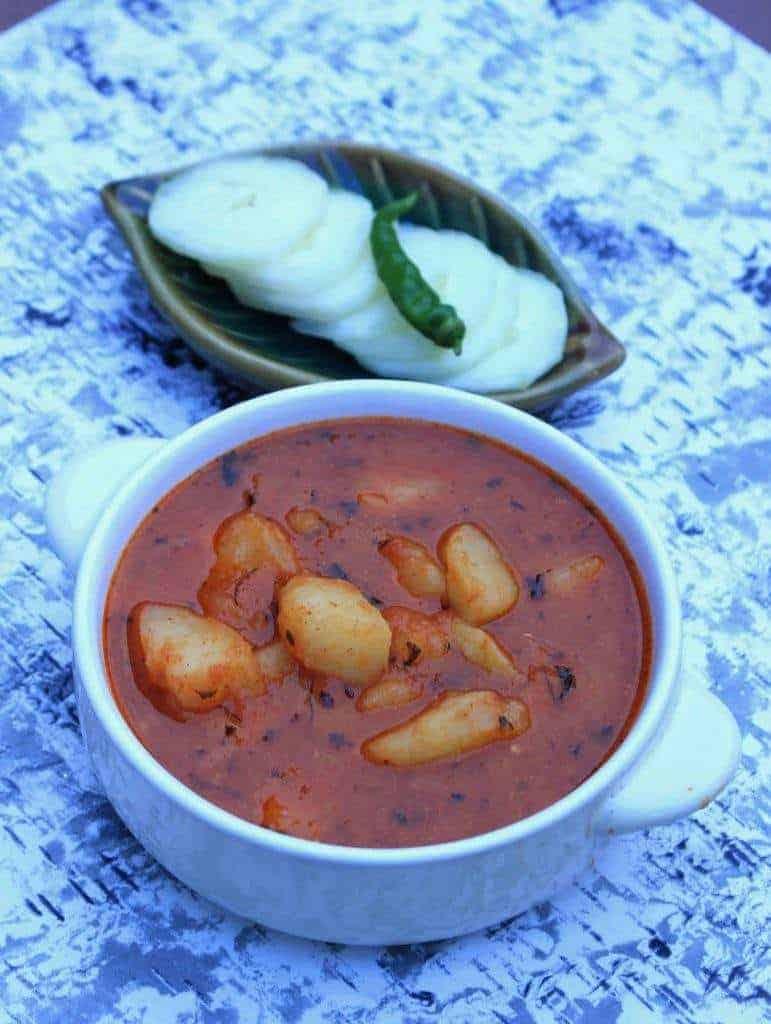 Aloo Methi Rasedar Subzi   Vegan Potato Curry