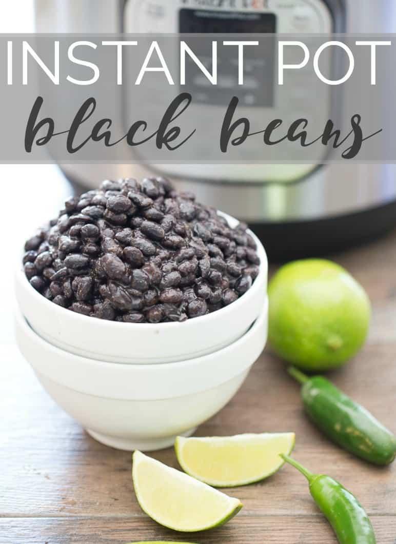 Easy instant pot black beans recipe