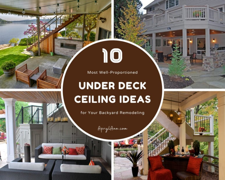 10 Most Well Proportioned Under Deck Ceiling Ideas