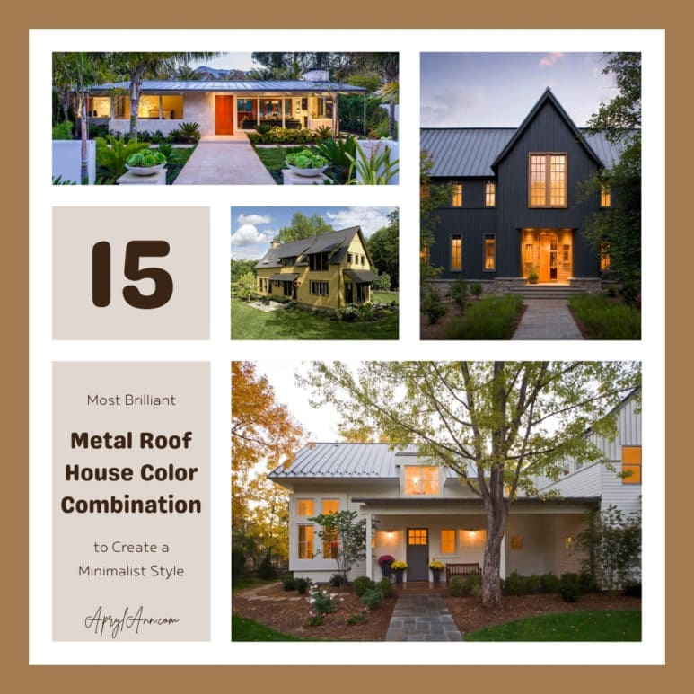 15 Most Brilliant Metal Roof House Color Combination