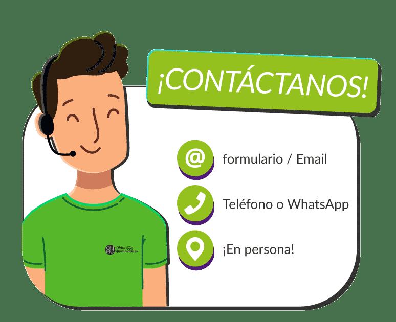 formas contactar ohhoanimaciones.com