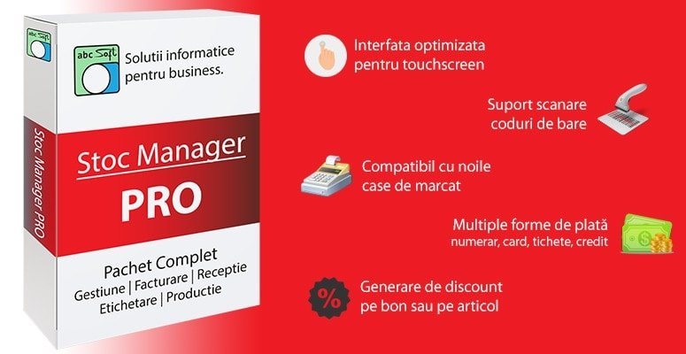 Stoc Manager PRO - pachet complet de gestiune, facturare, vanzare, receptie