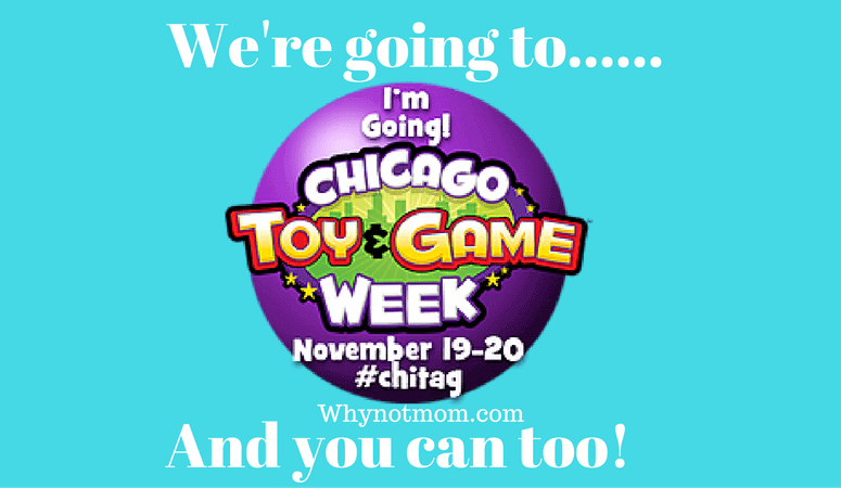 We're going to the Chicago Toy and Game Fair and you can too! #ChiTAG #giveaway #sweeps ad