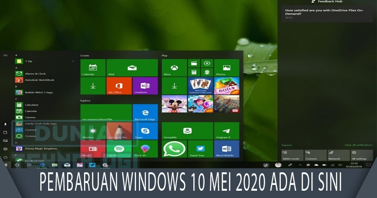 Update Windows 10 Mei 2020 ada di sini