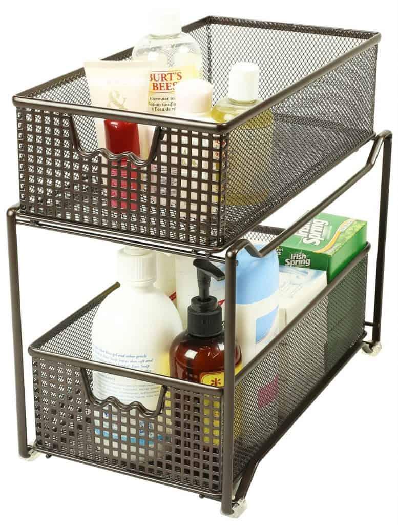 Sliding Cabinet Basket Organizer