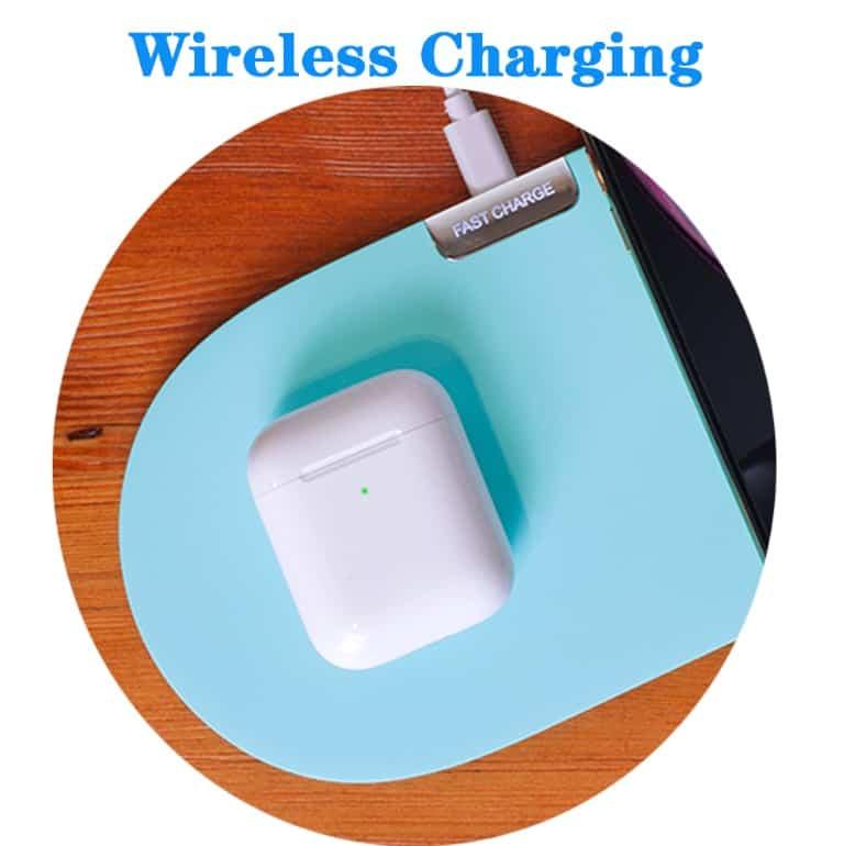 Cheap fake apple airpod replica aliexpress airpod clone airpod Wireless Charging i300 1 wireless charging