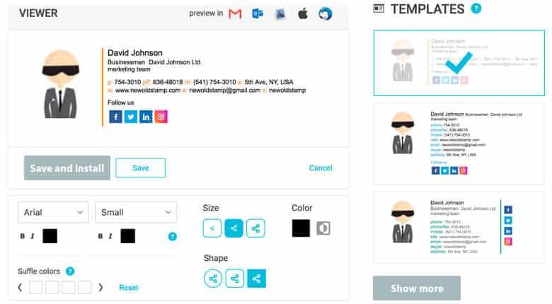 signature email pro newoldstamp