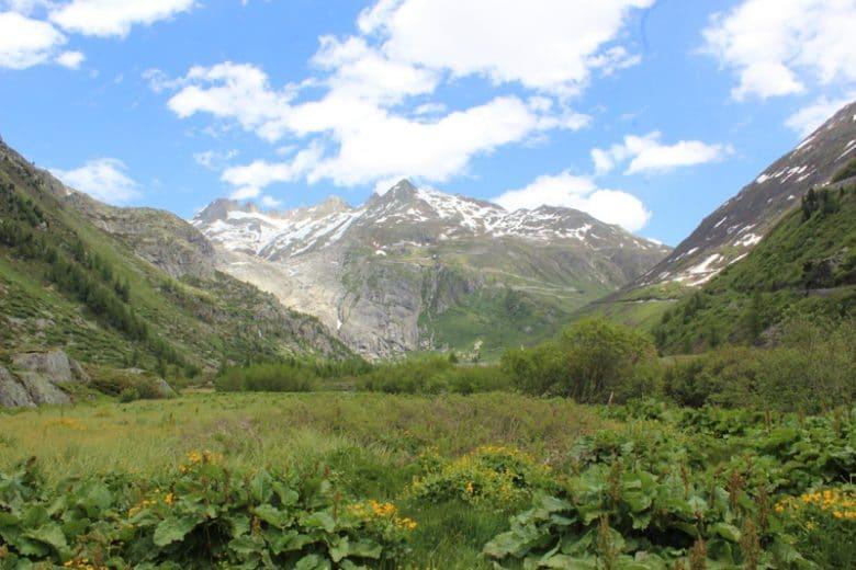 Furka Pass-Aussicht vom Obergolms, VS