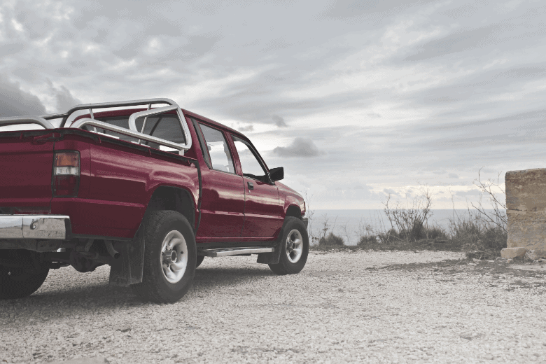 a red truck