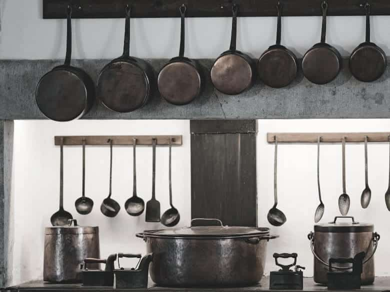 pots and pans made by copper