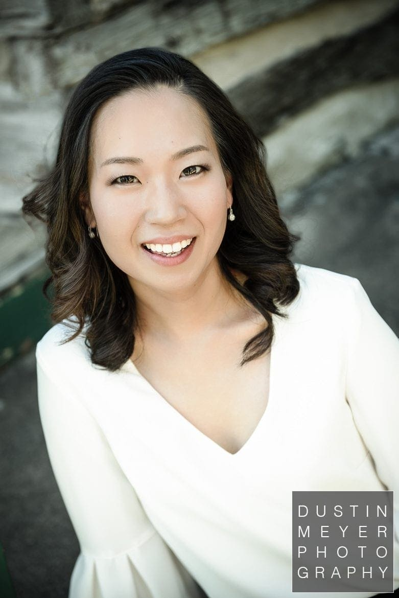 professional headshots for musicians, asian female model, outdoor headshot studio, austin, tx