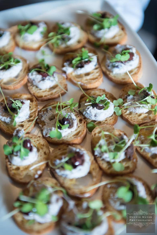 Wedding cocktail hour hors d'oeuvres | Austin Wedding Photographers