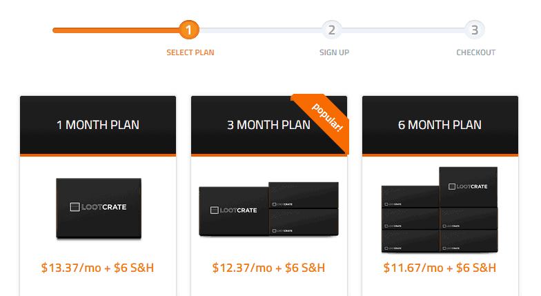 Loot Crate Subscription Plan