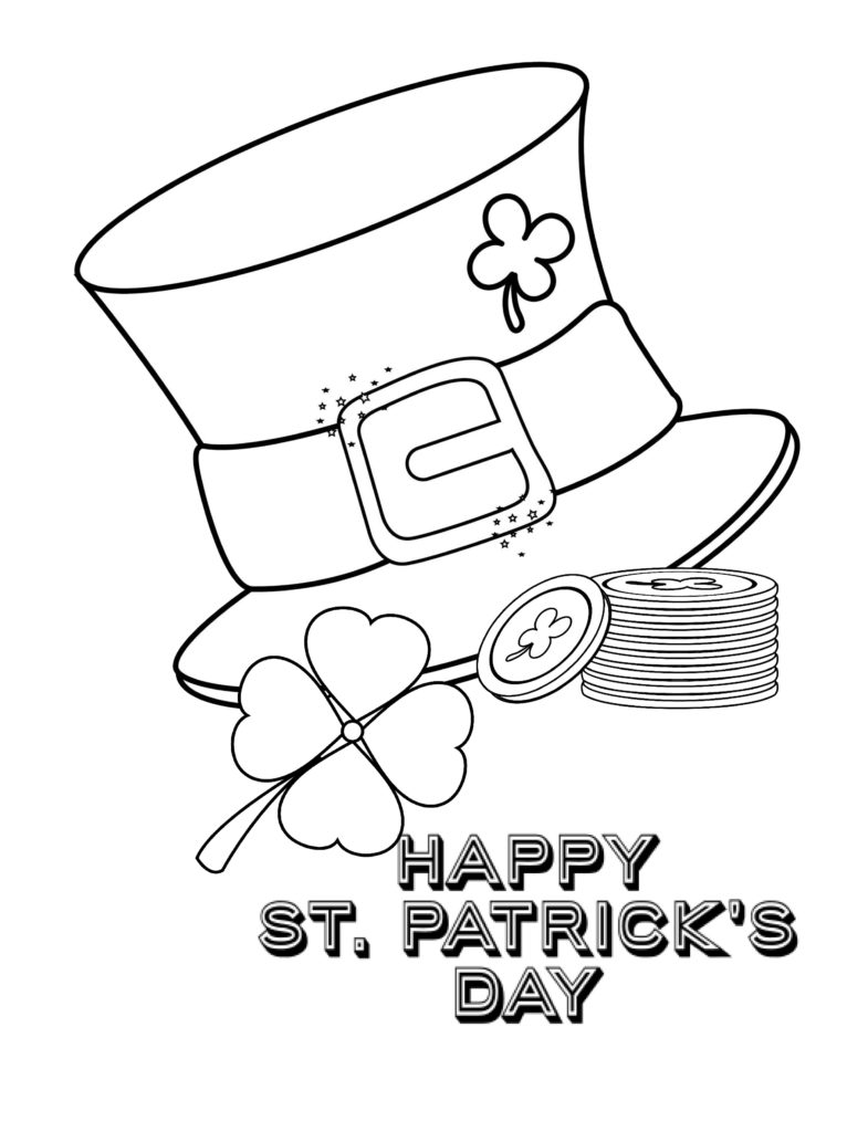 St. Patrick's Day Coloring Pages for Kids