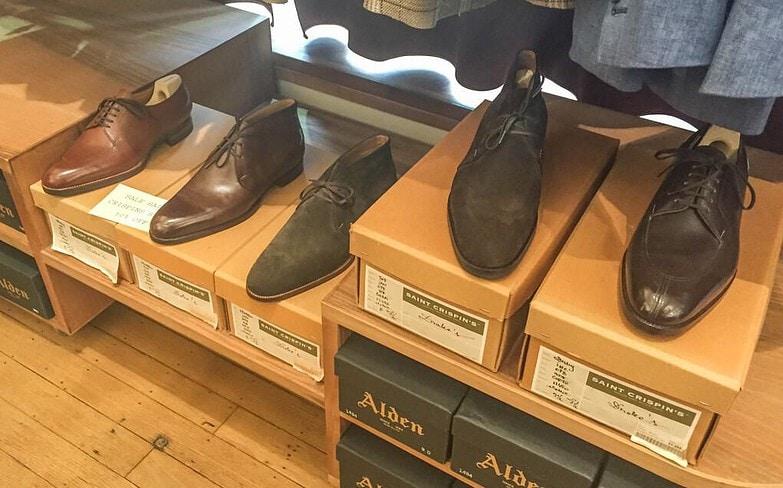 Saint Crispin's skor på rea.