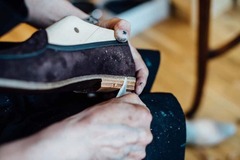The shoes are still made by Allan and Kasim in their London workshop.