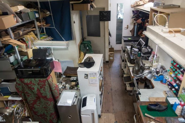 The workshop space.