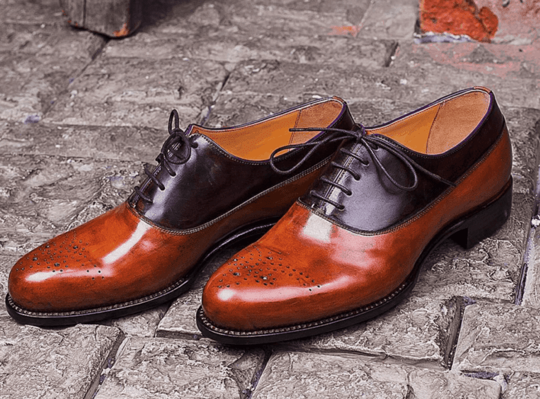 Shoes in two different shades of cordovan from Shell Cordovan, made by Russian Migliori. Picture: Migliori