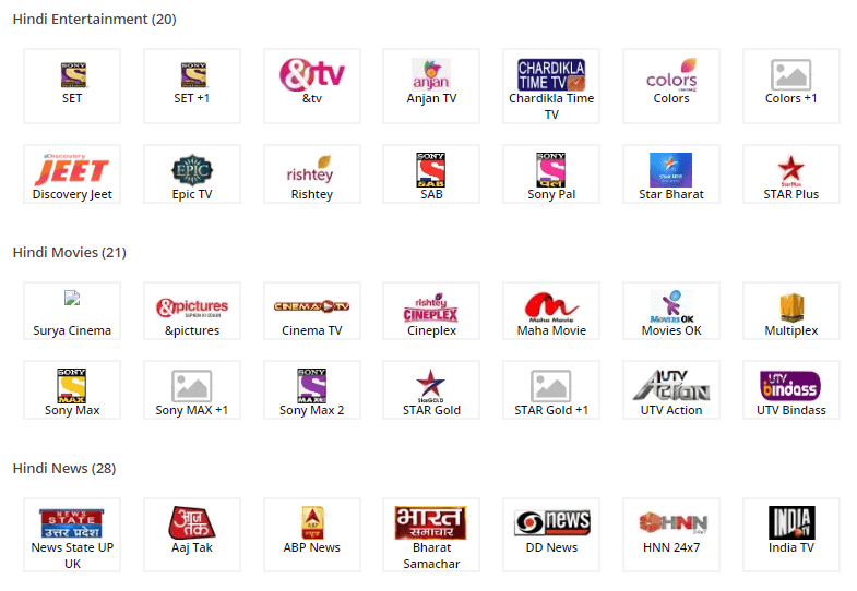 tata sky 139 pack channel list