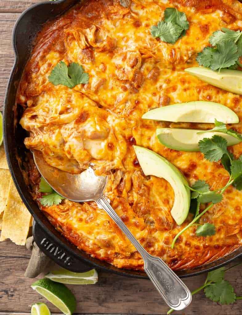 how to serve chicken enchiladas