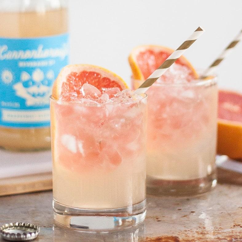 Two Ingredient Grapefruit Elderflower Cocktail