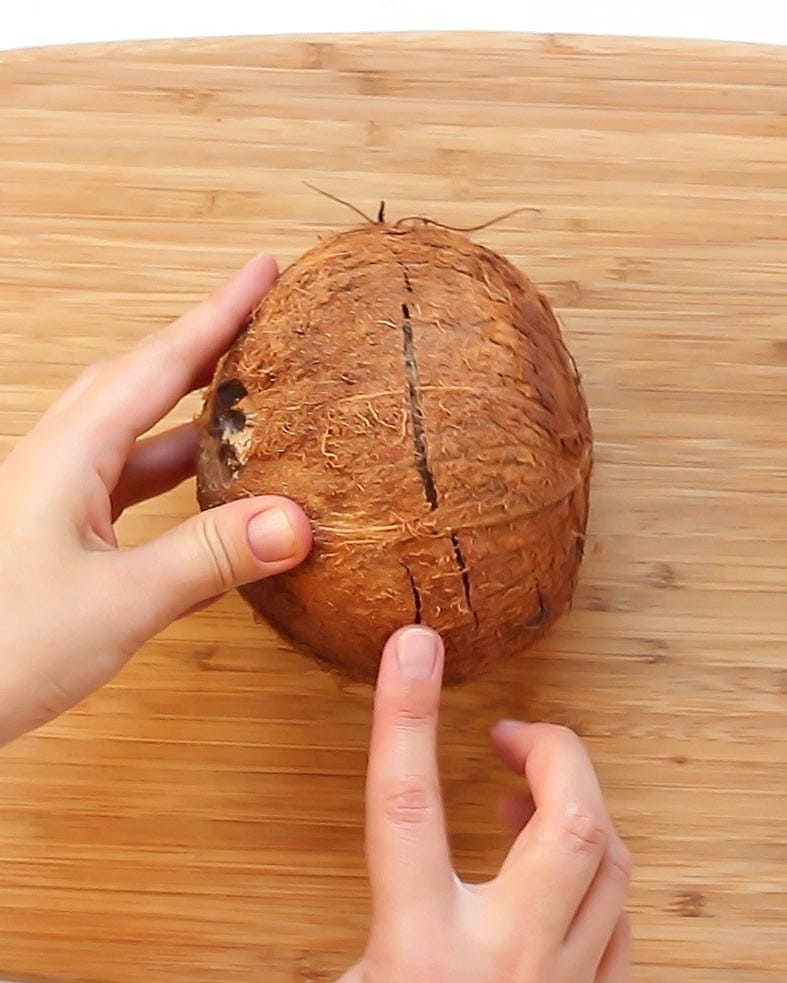 Cracked Shell Fresh Coconut