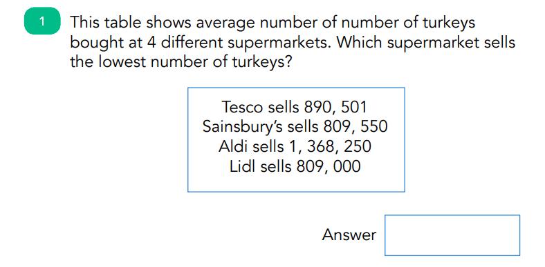 Christmas Maths Quiz Reasoning Question 2