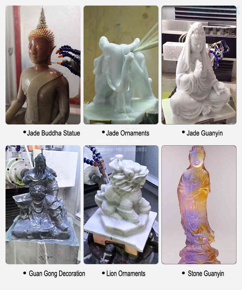 cnc machine brands for wood stone metal carving 5 axis sculpture