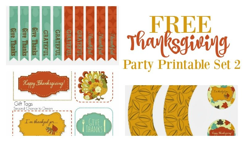 Second Chance to Dream: Free Thanksgiving Party Printables Set 2 #Thanksgiving #partyprintables
