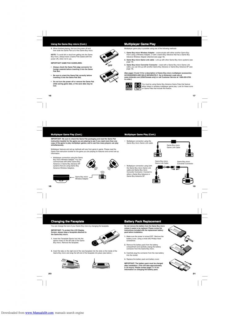Game Boy Micro Manual Page 4