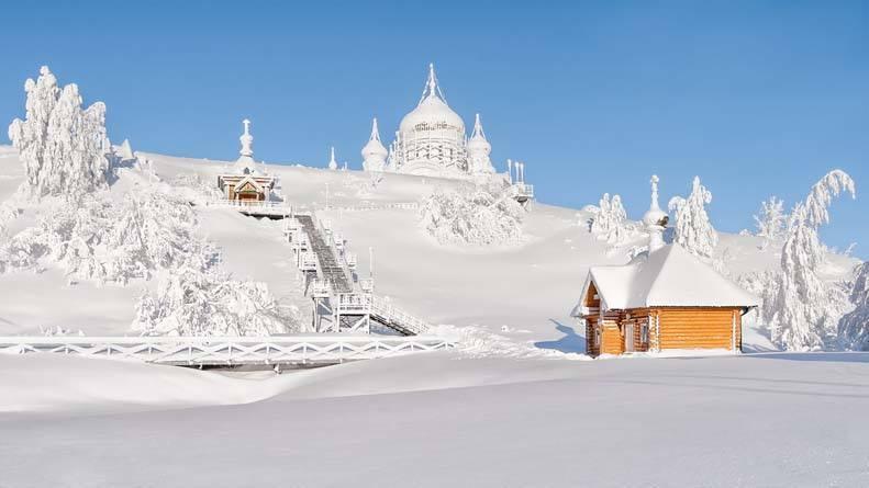Russian snowy winter